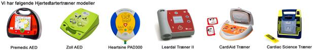 Vi har følgende Hjertestartertrænere